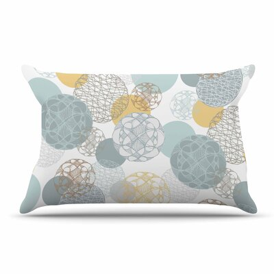 Maike Thoma Floating Circles Design Pillow Case