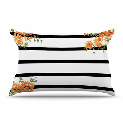 NL Designs Floral Stripes Floral Pillow Case
