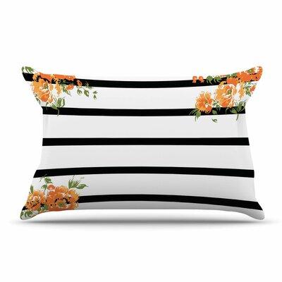 NL Designs Floral Stripes Floral Pillow Case