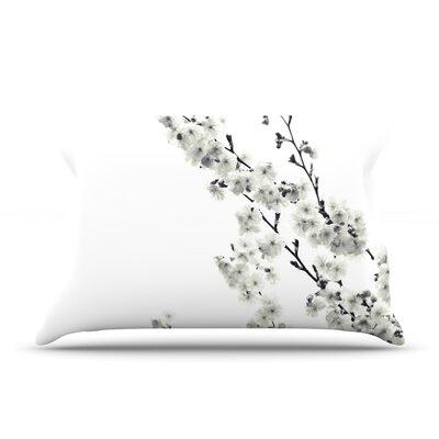 Monika Strigel Cherry Sakura Floral Pillow Case Color: White