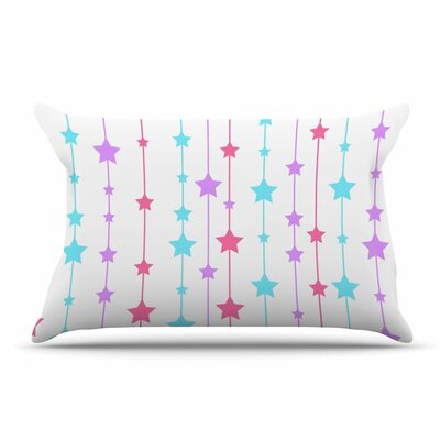 NL Designs Pastel Stars Pastel Pillow Case Color: White