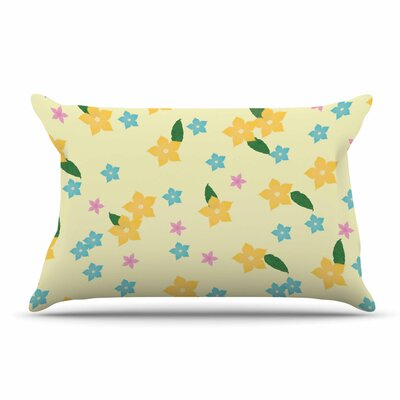 NL Designs Holiday Floral Pillow Case Color: Yellow
