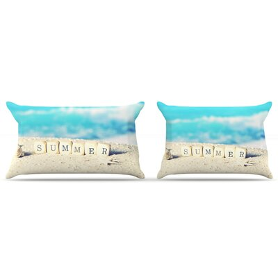 Monika Strigel 'Summer At The Beach' Coastal Pillow Case