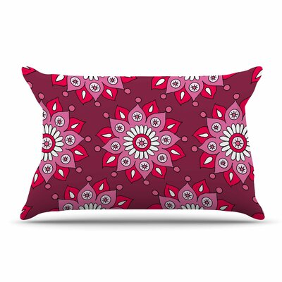 Sarah Oelerich Flower Burst Pillow Case Color: Magenta