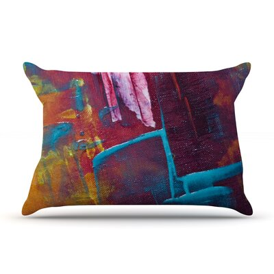 Malia Shields Cityscape Abstracts Ii Painting Pillow Case