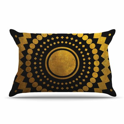 Matt Eklund Gilded Confetti Geometric Pillow Case