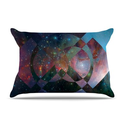 Matt Eklund Galactic Radiance Pillow Case Color: Blue/Purple