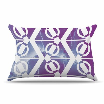 Matt Eklund Storm Pillow Case Color: Purple/White