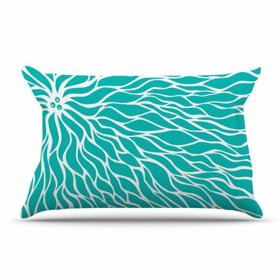 NL Designs Swirls Teal Pillow Case Color: Teal