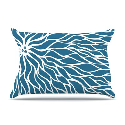 NL Designs Swirls Teal Pillow Case Color: Blue