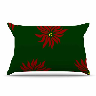 NL Designs Poinsettias Pillow Case