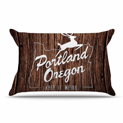 Juan Paolo Keep It Weird Portland Pillow Case