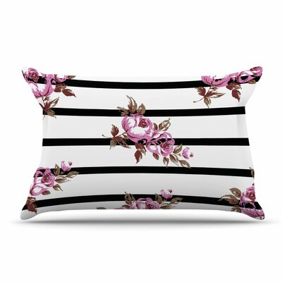 NL Designs Purple Floral Stripes Pillow Case