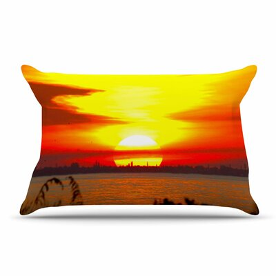 Philip Brown Sunrise On Sanibel Coral Pillow Case