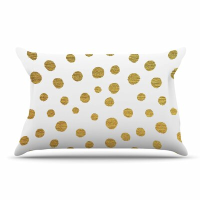 Nika Martinez Golden Dots Pillow Case Color: White