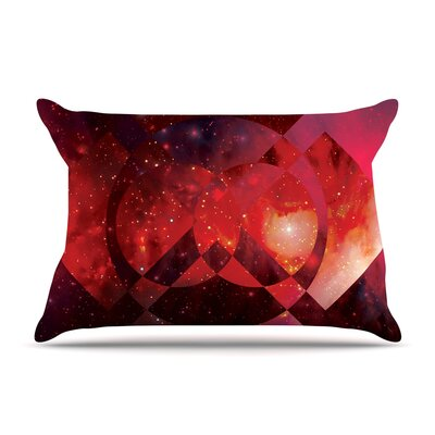 Matt Eklund Galactic Radiance Pillow Case Color: Red/Pink