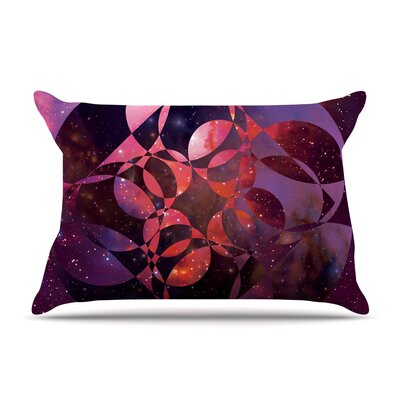 Matt Eklund Galactic Brilliance Geometric Pillow Case Color: Pink/Purple