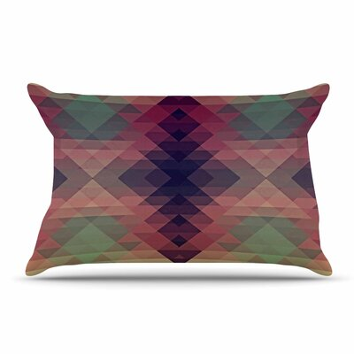 Nika Martinez Hipsterland Ii Pillow Case Color: Maroon/Green