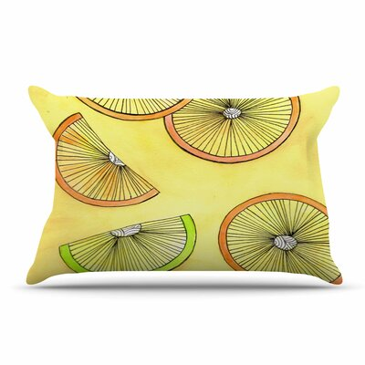 Rosie Brown Lemons And Limes Fruit Pillow Case