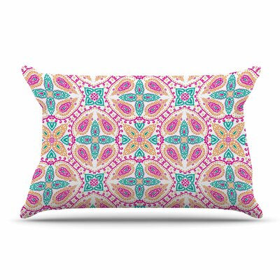 Nandita Singh Boho In Multicolor Abstract Pillow Case Color: Pink