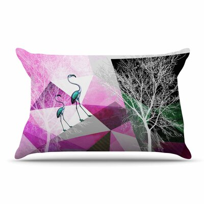 Pia Schneider Flamingo P22 Geometric Pillow Case