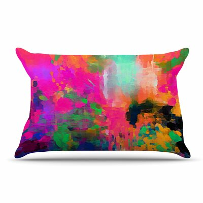 Oriana Cordero Montesilvano-Abstract Rainbow Painting Pillow Case