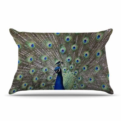 Qing Ji Peacock Of Stunning Feathers Pillow Case