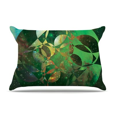 Matt Eklund Galactic Brilliance Geometric Pillow Case Color: Green