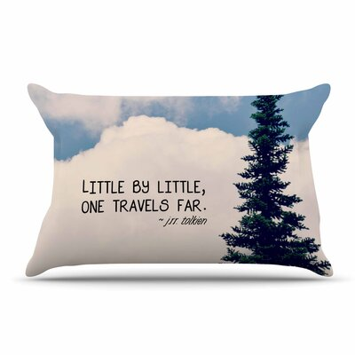 Robin Dickinson Little By Little Clouds Typography Pillow Case