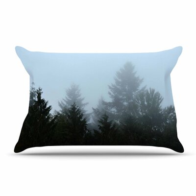 Robin Dickinson Welcome To Earth Mist Forest Pillow Case