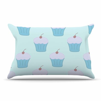 NL Designs Holiday Floral Pillow Case Color: Blue