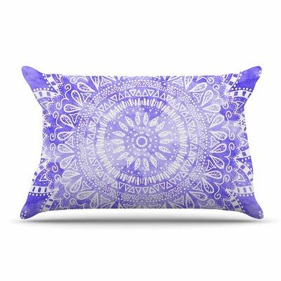 Nika Martinez Boho Flower Mandala Pillow Case Color: Purple/Lavender