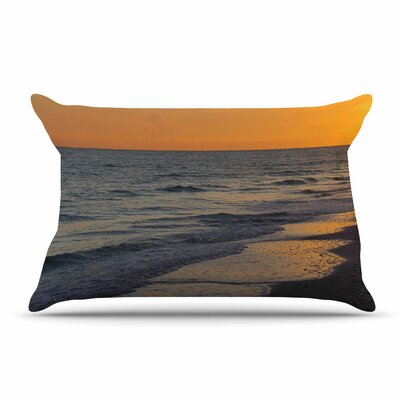 Philip Brown Sunset Beach Coral Pillow Case