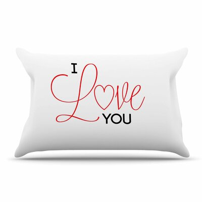 NL Designs 'I Love You' Pillow Case