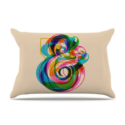 Roberlan Champersands Digital Typography Pillow Case