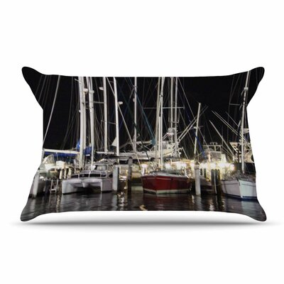 Philip Brown Dinner Key Marina Coastal Pillow Case