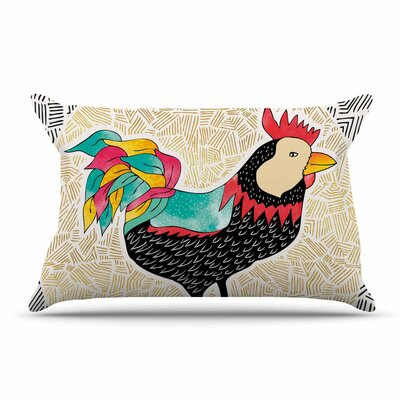 Pom Graphic Design Cuckaroo Rooster Pillow Case