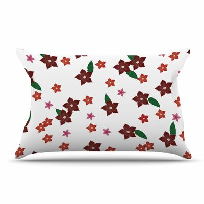 NL Designs Holiday Floral Pillow Case Color: White