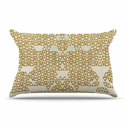 Pom Graphic Design Mint & Gold Empire Geometric Pillow Case