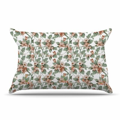Suzanne Carter Vintage Flowers Floral Pillow Case
