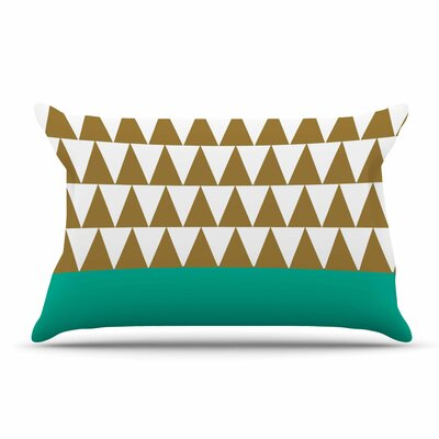 Suzanne Carter Geo Green Pillow Case