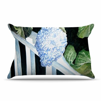 Rosie Brown Hydrangea Floral Pillow Case