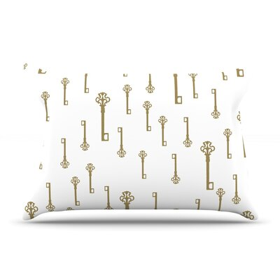Suzanne Carter Vintage Gold Keys Ii Pillow Case