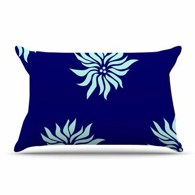 NL Designs Snow Flowers Pillow Case Color: Blue/Aqua
