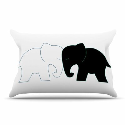 NL Designs Elephant Love Pillow Case