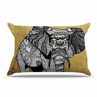 Pom Graphic Design Golden Elephant Pillow Case