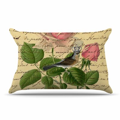Suzanne Carter Vintage Dream Floral Script Pillow Case