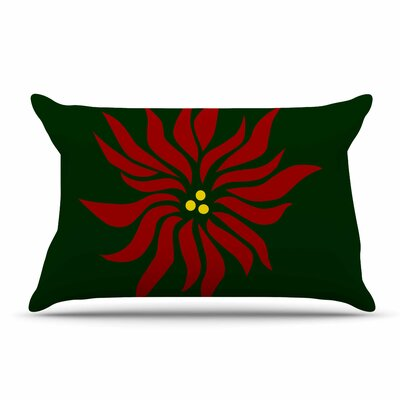 NL Designs Poinsettia Pillow Case