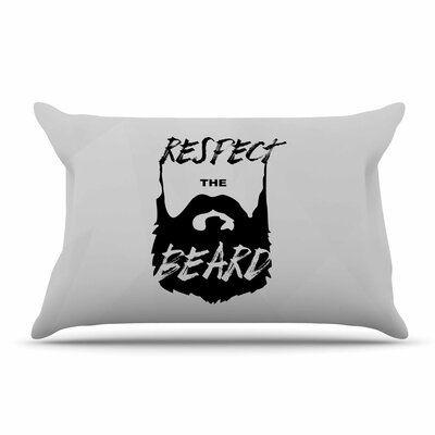 Juan Paulo Respect The Beard Typography Beard Pillow Case