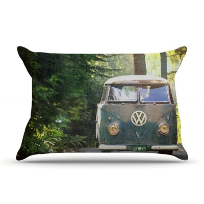 Robin Dickinson 'Peace Love Nature' Forest Pillow Case